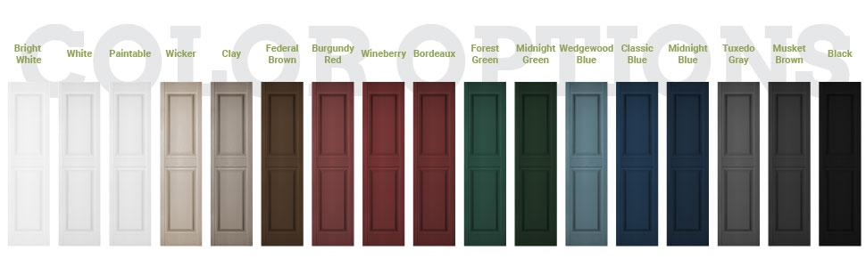Lifetime Vinyl Shutter Colors